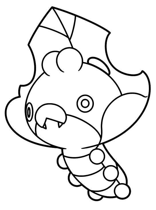 Coloriage Larveyette Pokemon