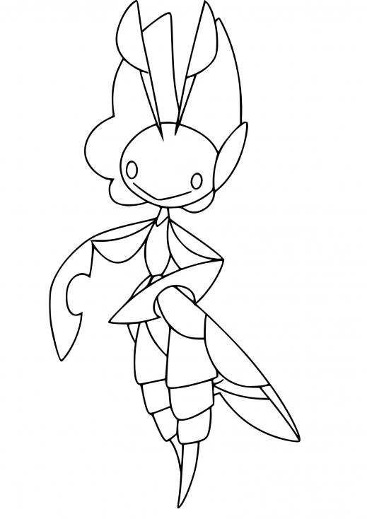 Coloriage Manternel Pokemon