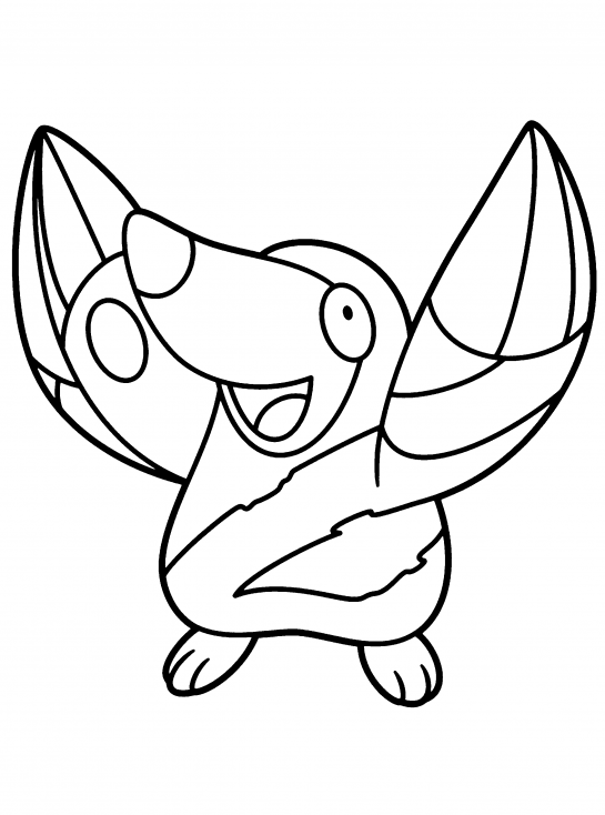 Coloriage Rototaupe Pokemon