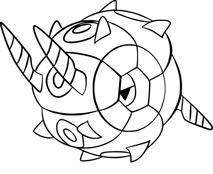Coloriage Scobolide Pokemon