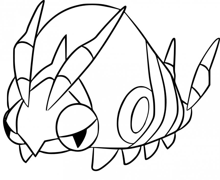Coloriage Venipatte Pokemon