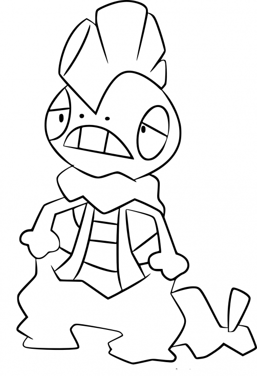 Coloriage Baggaïd Pokemon
