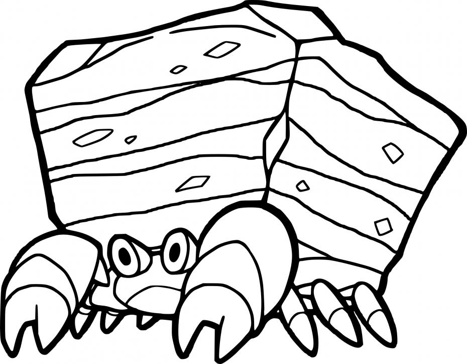 Coloriage Crabaraque Pokemon