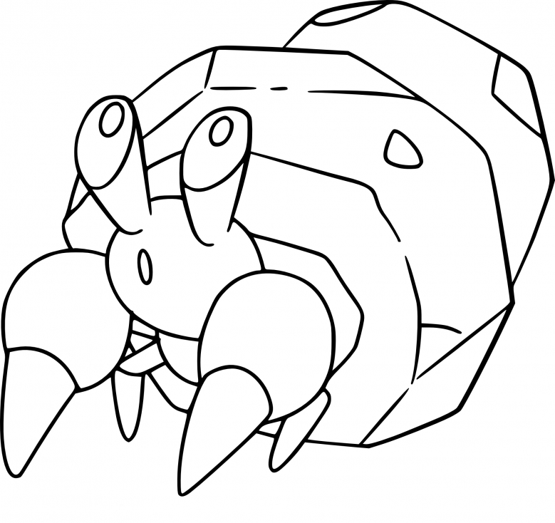 Coloriage Crabicoque Pokemon