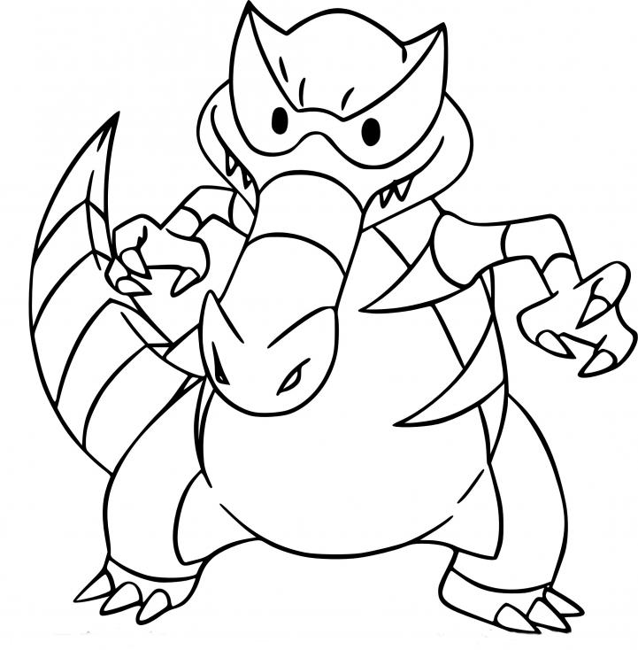 Coloriage Crocorible Pokemon