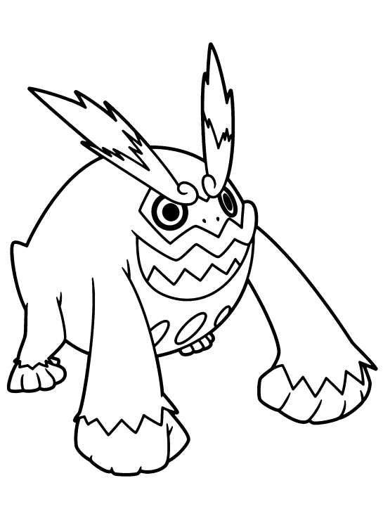 Coloriage Darumacho Pokemon
