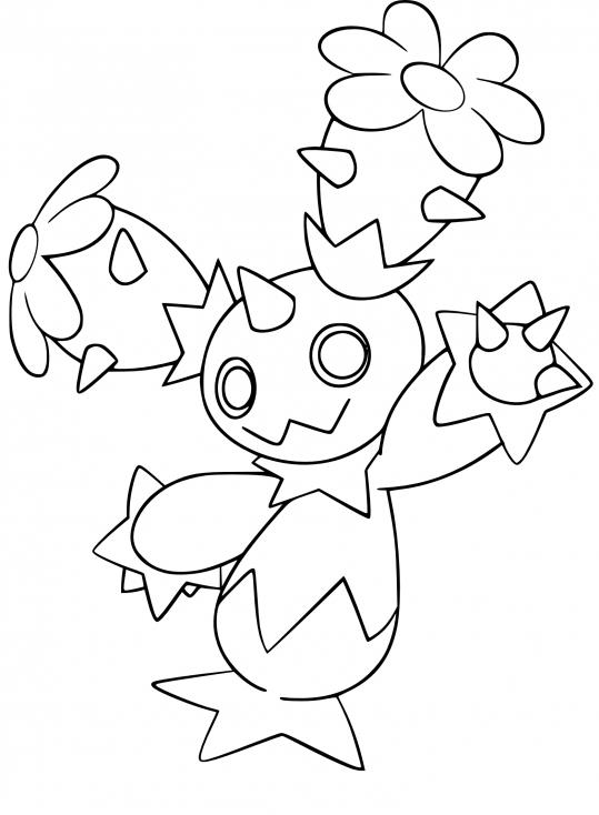 Coloriage Maracachi Pokemon