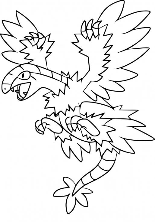 Coloriage Aéroptéryx Pokemon