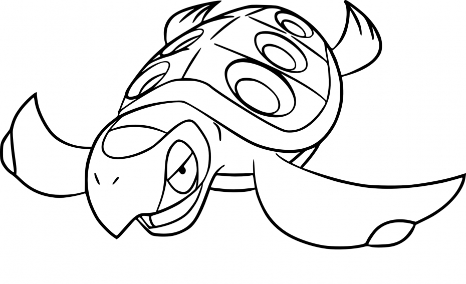 Coloriage Carapagos Pokemon