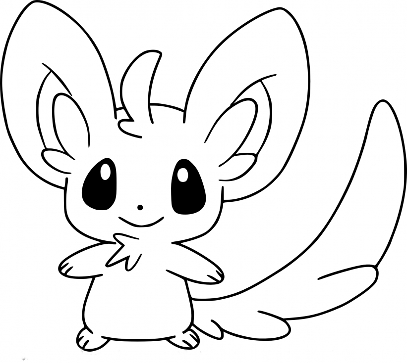Coloriage Chinchidou Pokemon