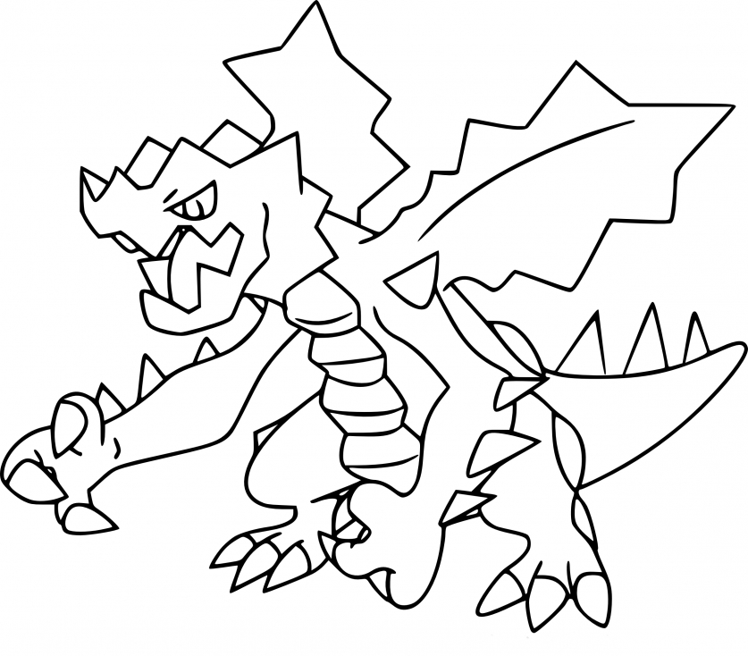 Coloriage Drakkarmin Pokemon