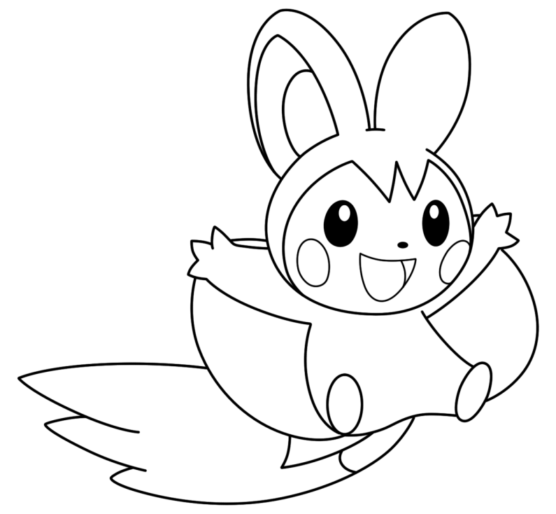 Coloriage Emolga Pokemon
