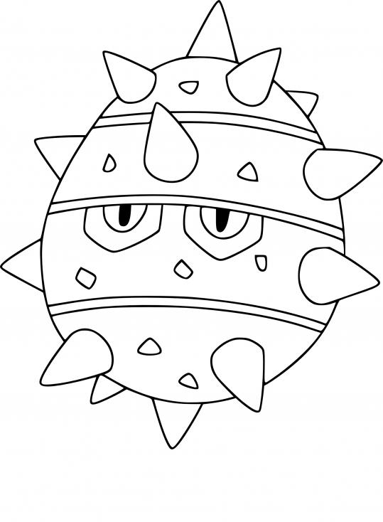 Coloriage Grindur Pokemon