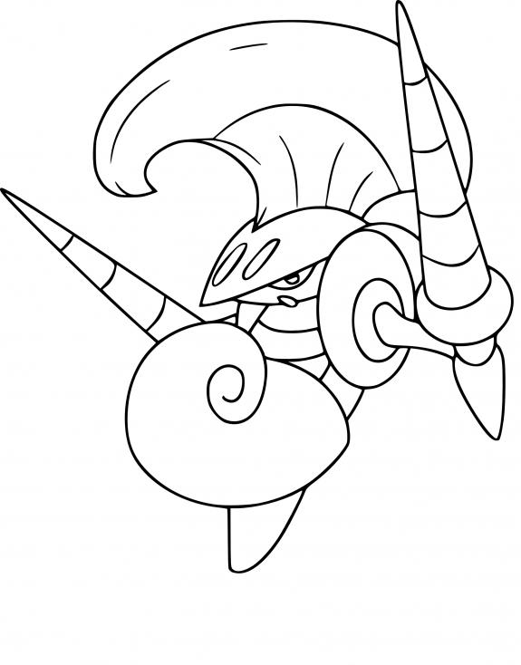 Coloriage Lançargot Pokemon