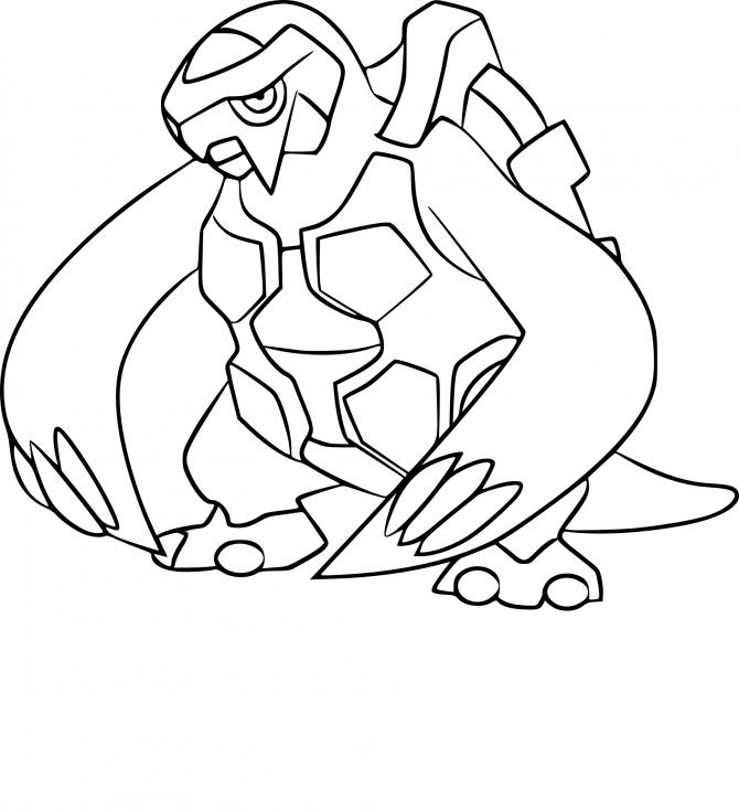 Coloriage Mégapagos Pokemon