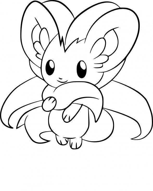Coloriage Pashmilla Pokemon
