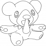 Coloriage Polarhume Pokemon