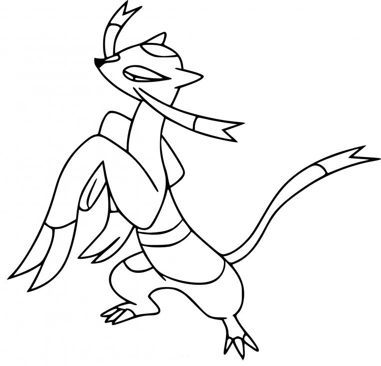 Coloriage Shaofouine Pokemon