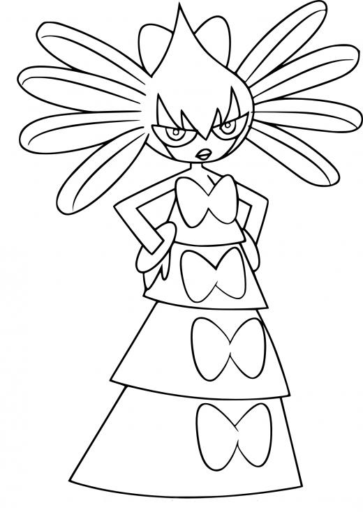 Coloriage Sidérella Pokemon