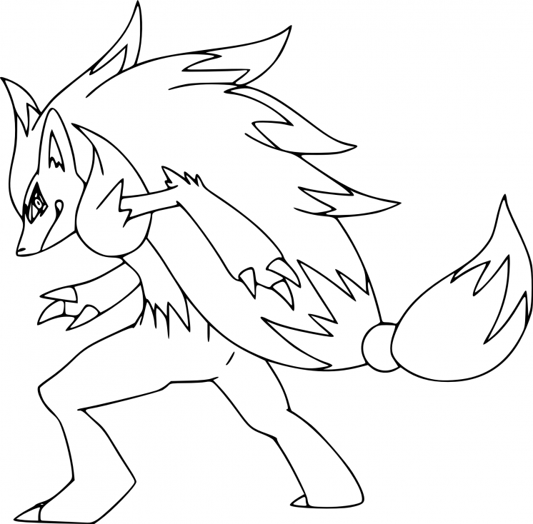 Coloriage Zoroark Pokemon