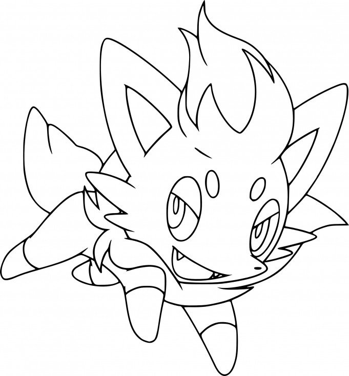 Coloriage Zorua Pokemon