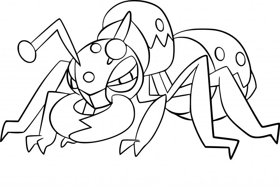 Coloriage Fermite Pokemon
