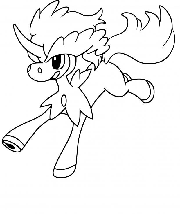 Coloriage Keldeo Pokemon