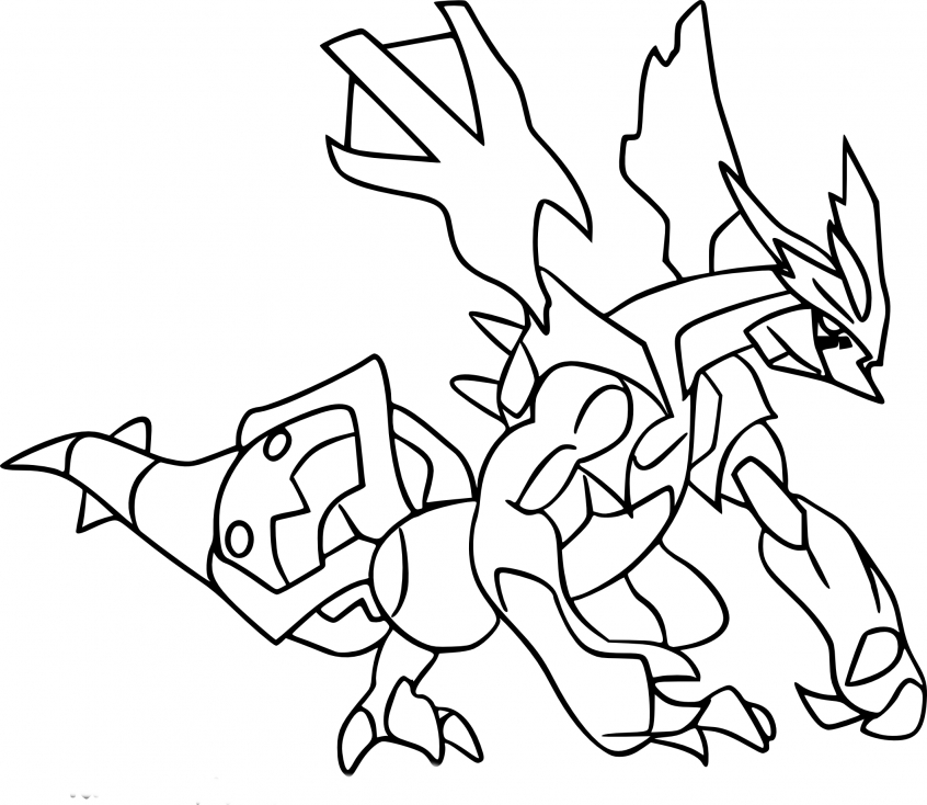 Coloriage Kyurem Pokemon