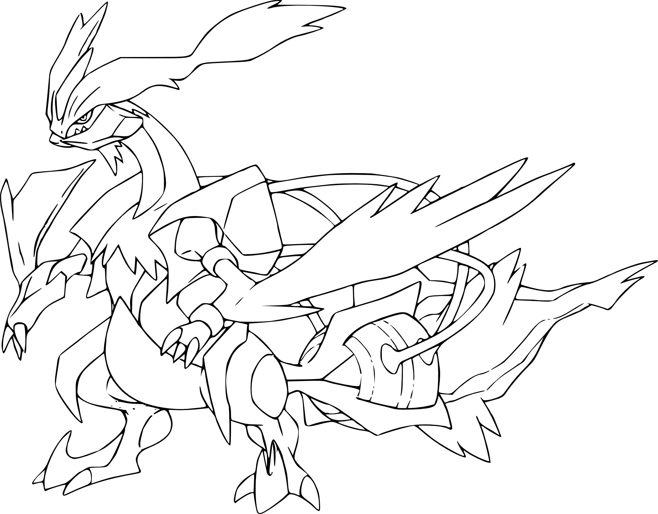 coloriage kyurem blanc pokemon