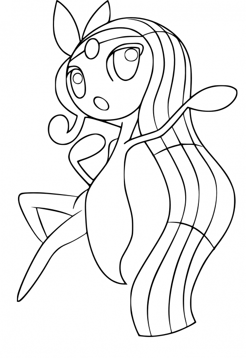 Coloriage Meloetta Pokemon