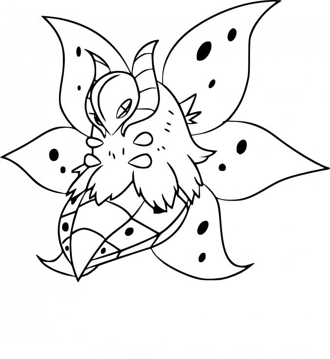 Coloriage Pyrax Pokemon