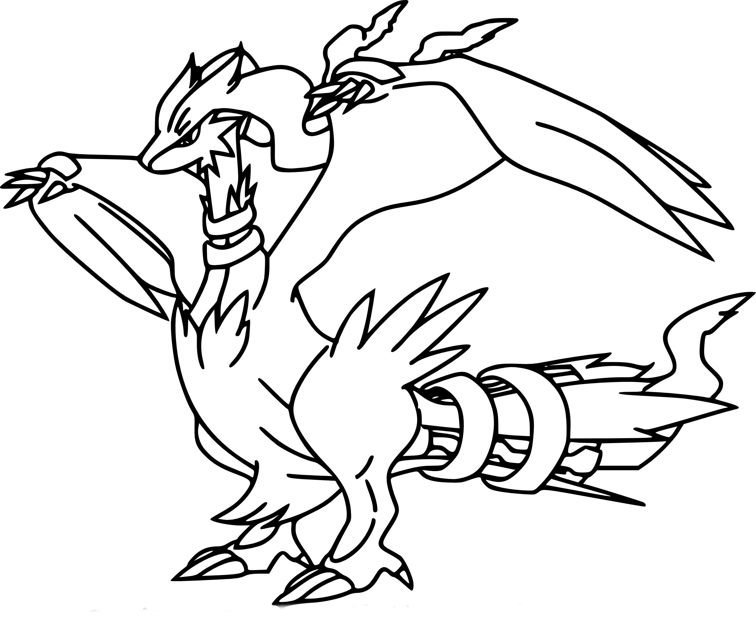 Coloriage Reshiram Pokemon A Imprimer