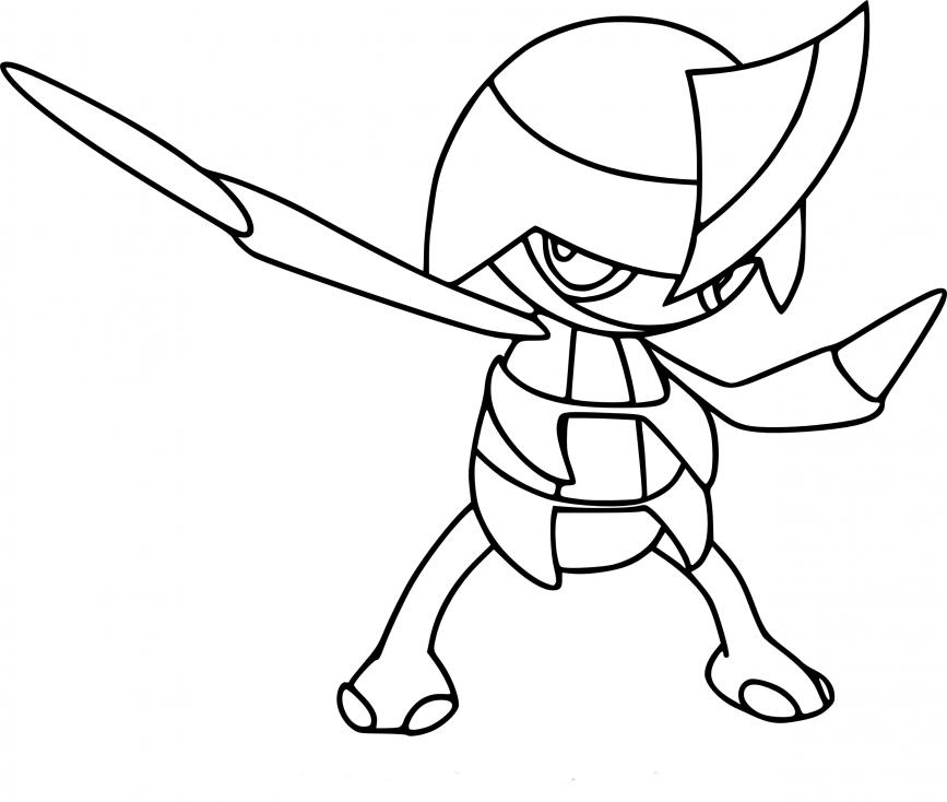 Coloriage Scalpion Pokemon