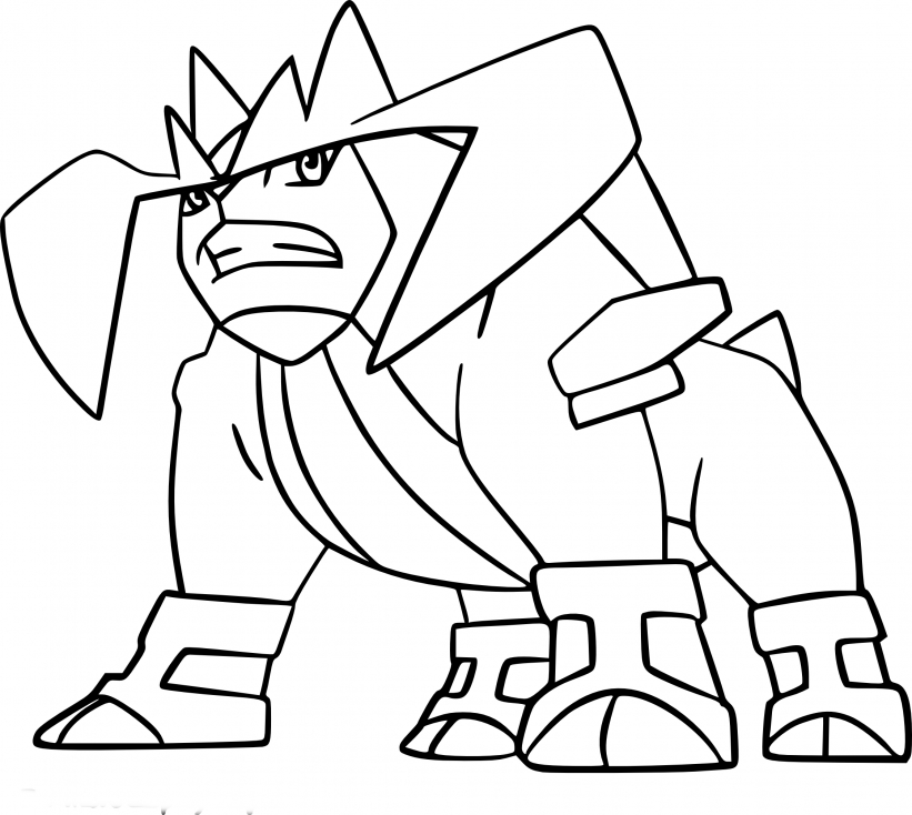 Coloriage Terrakium Pokemon