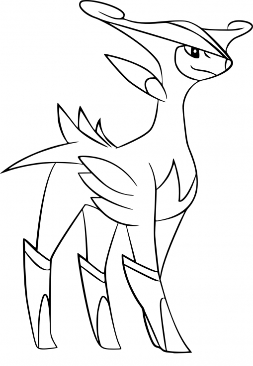 Coloriage Viridium Pokemon