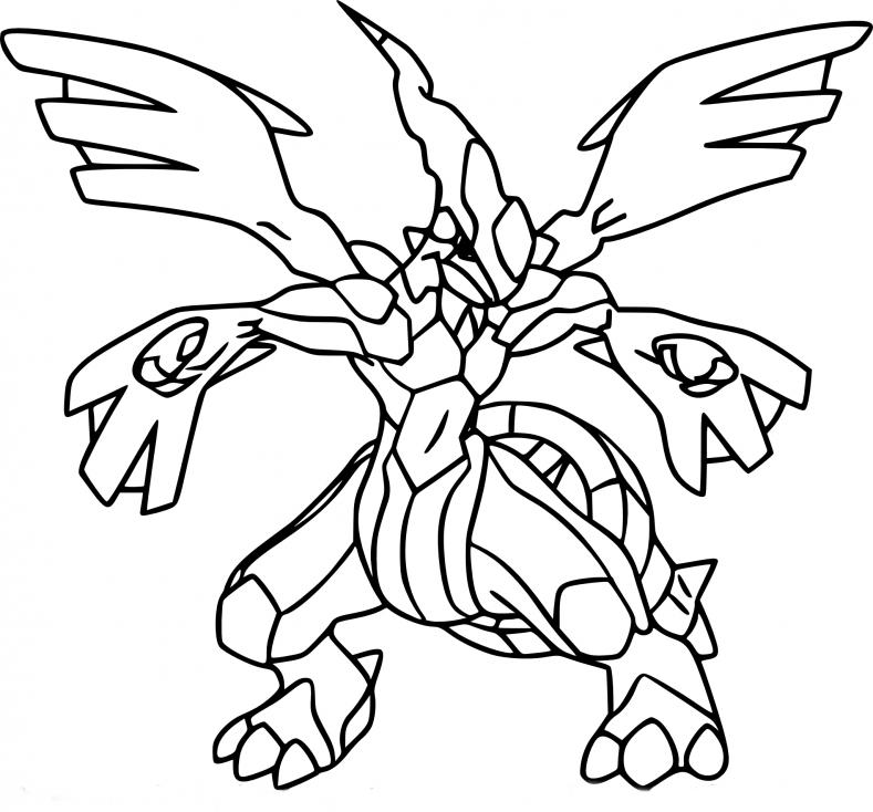 Coloriage Zekrom Pokemon