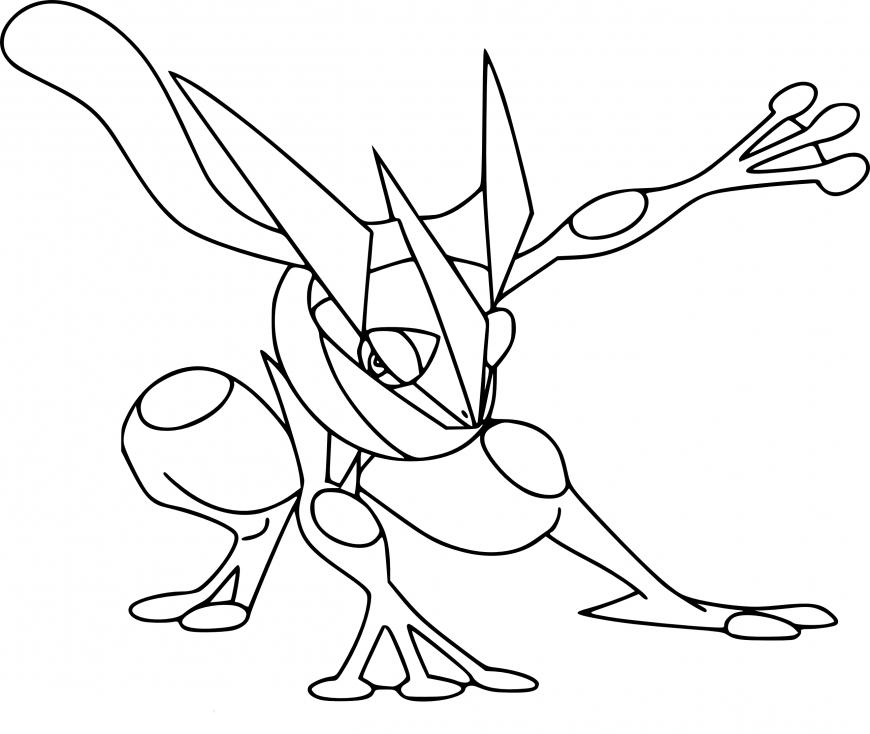 Pokemon Coloring Pages And Y : Greninja pokemon and y coloring pages