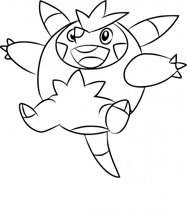 Coloriage Boguérisse Pokemon