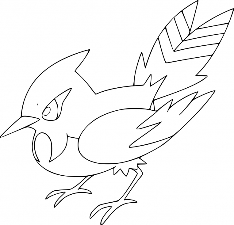Coloriage Braisillon Pokemon