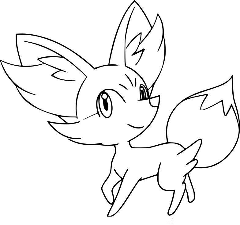 coloriage feunnec pokemon