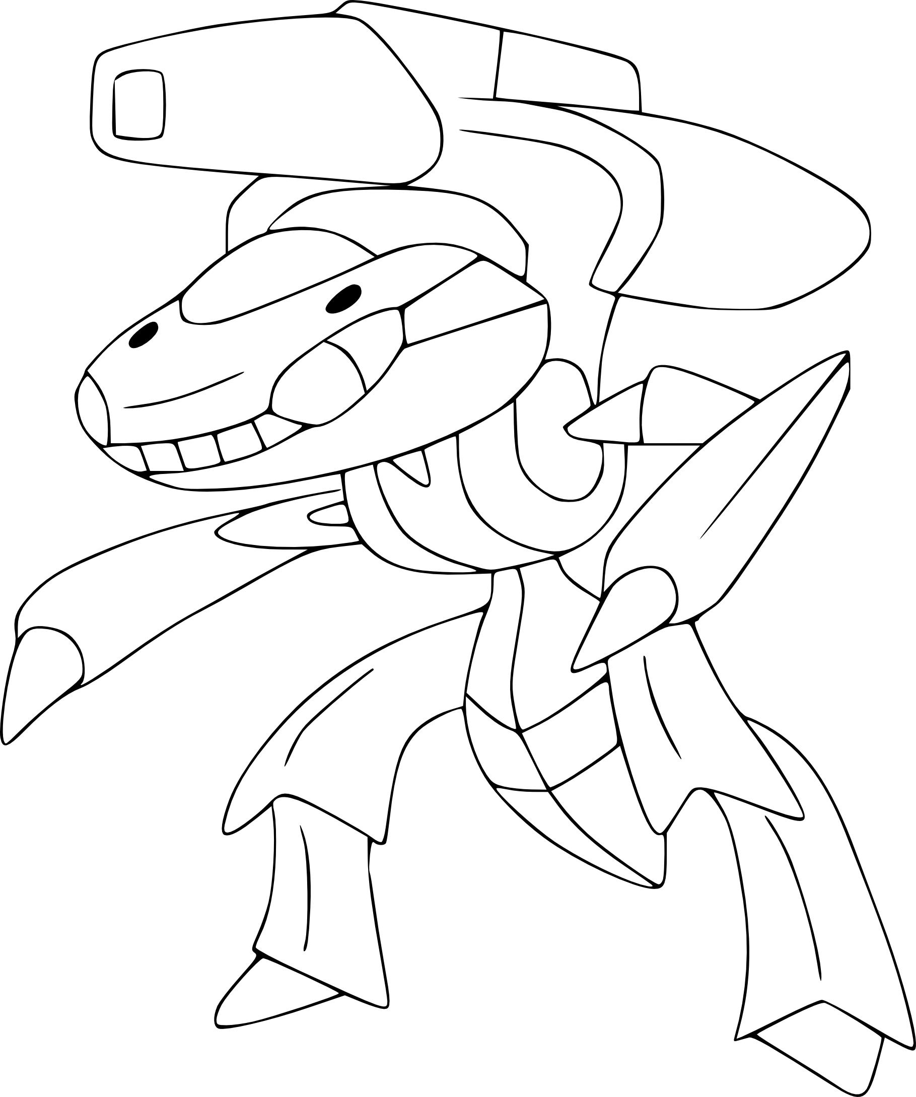 Coloriage genesect pokemon imprimer - Dessin pokemon legendaire ...