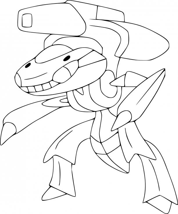 Coloriage Genesect Pokemon