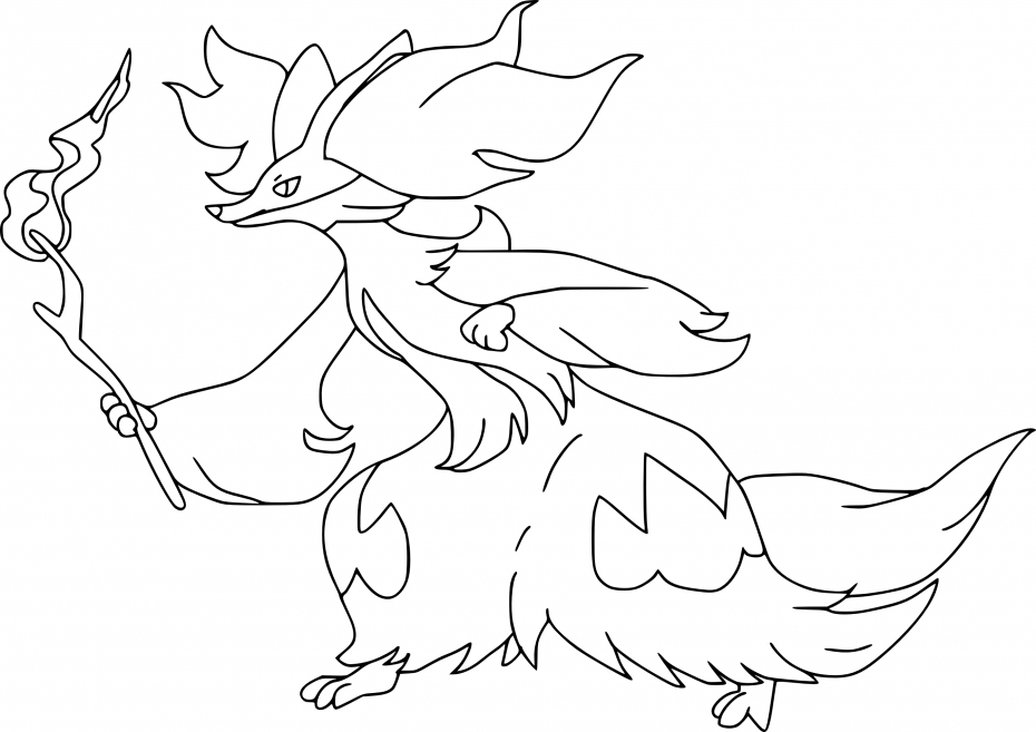 Coloriage Goupelin Pokemon