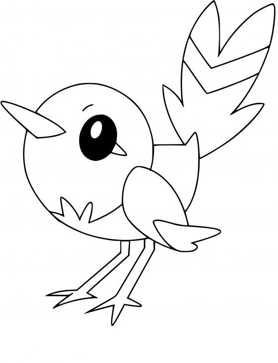 Coloriage Passerouge Pokemon