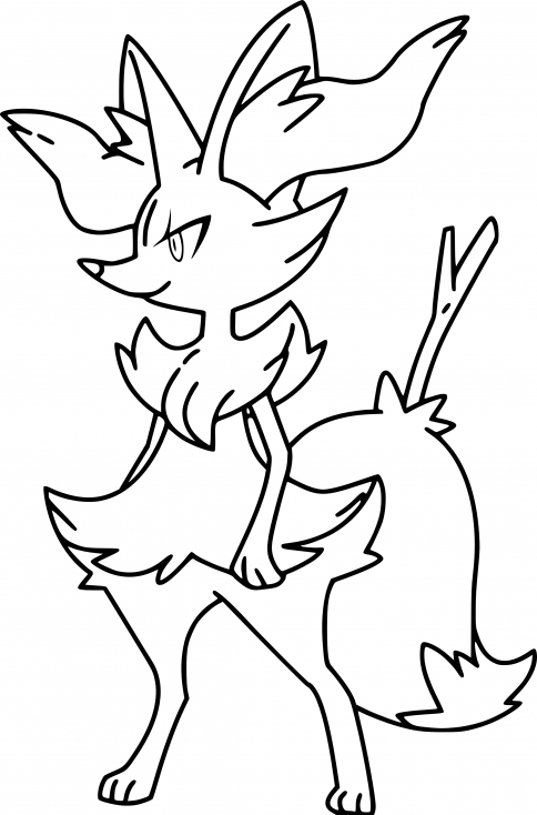 Coloriage Roussil Pokemon