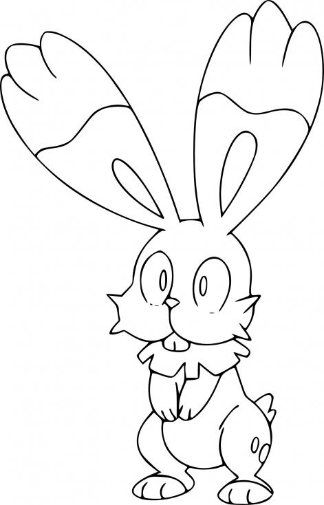 Coloriage Sapereau Pokemon