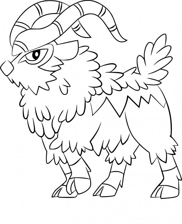 Coloriage Chevroum Pokemon