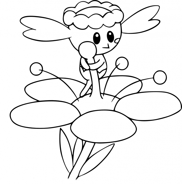 pokemon coloring pages flabebe flower - photo#7
