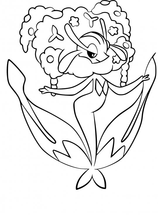 Coloriage Florges Pokemon