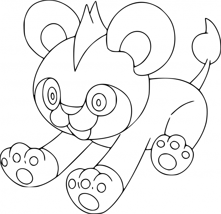 Coloriage Hélionceau Pokemon